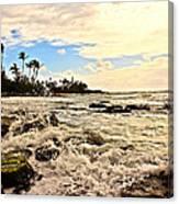 Lihue Splash Canvas Print