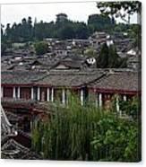 Lijiang Rooftops Canvas Print