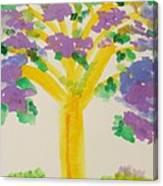 Lilac Lavender Tree Canvas Print