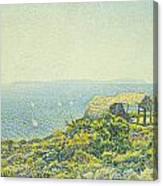 L'ile Du Levant Vu Du Cap Benat Canvas Print