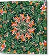 Lilly In Abstract Canvas Print