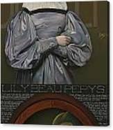 Lily Beau Pepys Canvas Print