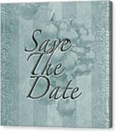 Lily Of The Valley Save The Date Greeting Card Canvas Print