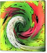Lime And Red Canvas Print