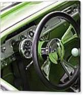 Lime Chevy Impala  Canvas Print