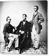 Lincoln & Secretaries, Canvas Print