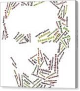 Lincoln As Word Cloud Canvas Print