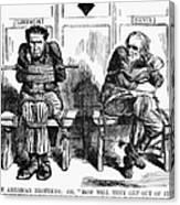 Lincoln Cartoon, 1864 Canvas Print