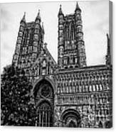 Lincoln Cathedral Facade Canvas Print