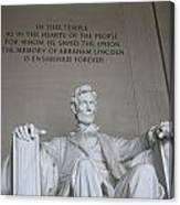 Lincoln Memorial - Enshrined Forever Canvas Print