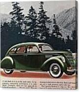 Lincoln Zephyr 1936 Canvas Print