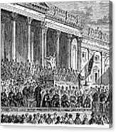 Lincolns Inauguration, 1861 Canvas Print