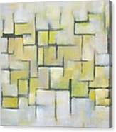 Line Series Blue And Yellow Canvas Print