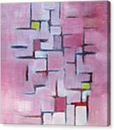 Line Series Pink Canvas Print