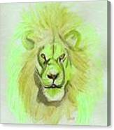 Lion Green Canvas Print