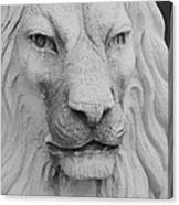 Lion In Stone Canvas Print