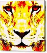 Lion In Winter Canvas Print
