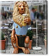Lion Of Beer Canvas Print