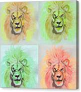 Lion X 4  Canvas Print