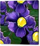 Liquid Violets Canvas Print