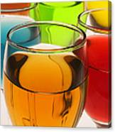 Liquor Glasses Canvas Print
