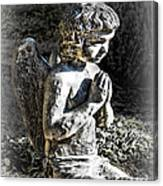 Little Angel Statue Canvas Print