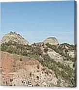 Little Badlands Missouri Panorama1 Canvas Print