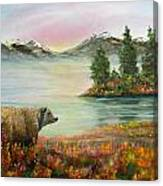 Little Bear Big World Canvas Print