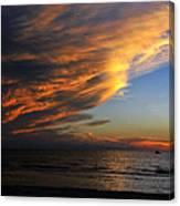 Little Boat Sunset Canvas Print