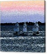 Little Boats Canvas Print