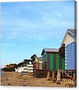 Little Boatsheds In A Row Canvas Print