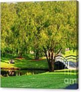 Little Bridge Over The River Canvas Print