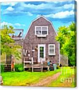 Little Cottage By The Sea Canvas Print