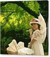 Little Girl Yesteryear Canvas Print