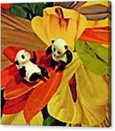 Little Glass Pandas 50 Canvas Print