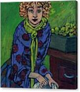 Little Green Apples Canvas Print