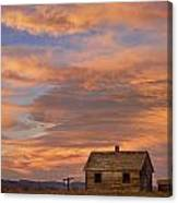 Little House On The Colorado Prairie Canvas Print