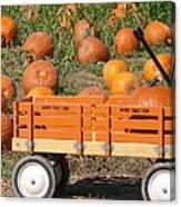 Little Orange Wagon Canvas Print