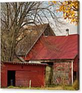 Little Red Farm Canvas Print