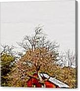 Little Red Shanty - No. 351 Canvas Print