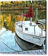 Little Sailboat Canvas Print