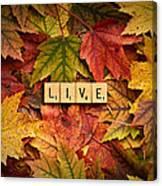 Live-autumn Canvas Print