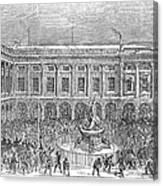 Liverpool Exchange, 1854 Canvas Print