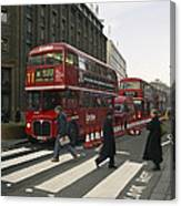 Liverpool Street Station Bus - London Canvas Print