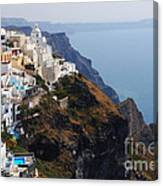 Living On The Edge In Santorini Canvas Print