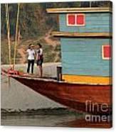 Living On The Mekong Canvas Print