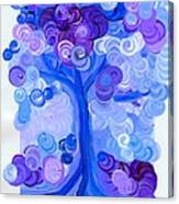 Liz Dixon's Tree Blue Canvas Print