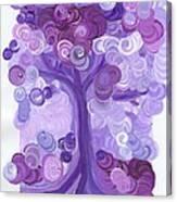 Liz Dixon's Tree Purple Canvas Print