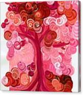 Liz Dixon's Tree Red Canvas Print