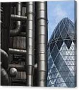 Lloyds Of London And The Gherkin Building Canvas Print